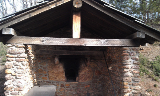 Community oven in the style of a Piedmont, Alpine village.