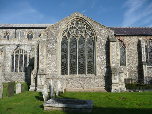 South transept window of St Michael's Church, Aylsham