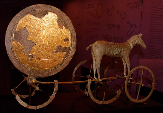 Trundholm sun chariot, National Museum of Denmark.