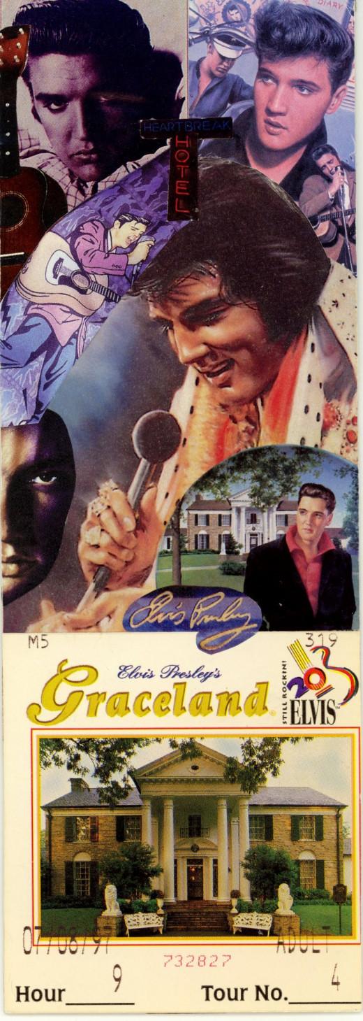 Elvis Collage Bookmark - Back Side