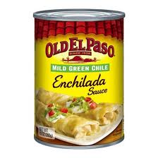 Old El Paso Mild Green Chile Enchilada Sauce has a wonderful flavor.