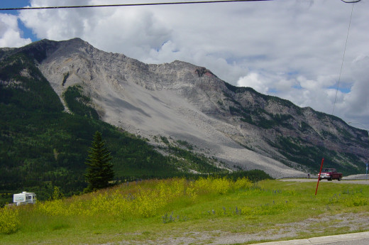 Turtle Mountain as seen from the East