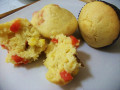 Bacon Cornbread Muffins with Red Bell Pepper