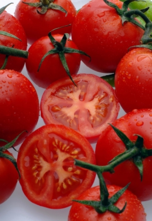tomatoes and sugar make an excellent facial scrub and is made in less than a minute.