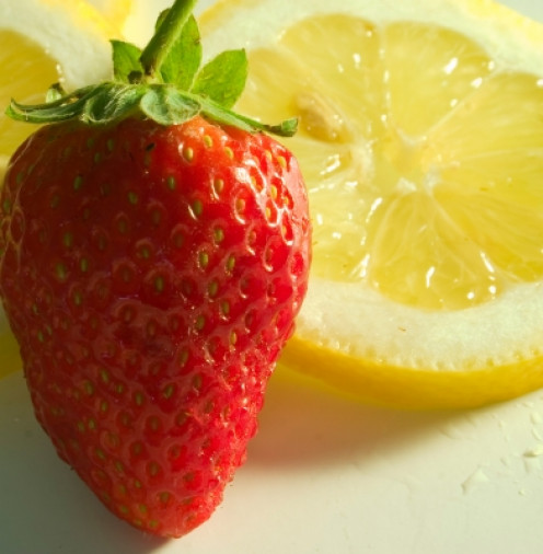 Lemon juice is incorporated into many homemade beauty treatments. strawberries are uses in DIY cosmetics and skin care products.