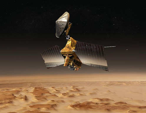 Mars Reconnaissance Orbiter, launched in August 2005 and in final orbit since November 2006.
