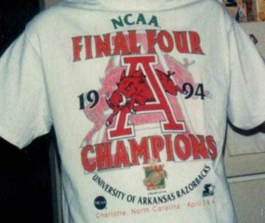 1994 Arkansas Razorbacks NCAA Championship T-Shirt