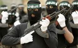 Obviously proud to be seen as a fighter for Hamas by hiding behind a mask.