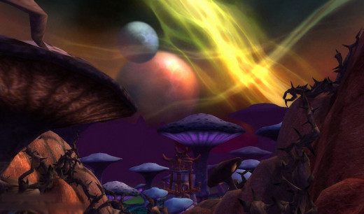 A mere glimpse of the stunning scenerey found in WoW