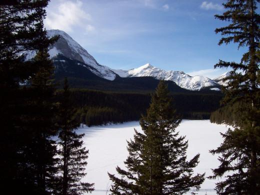 Chinook Lake aka Allison Lake in Winter