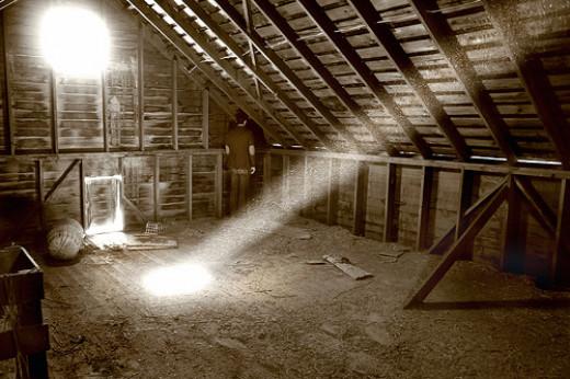 A dusty attic
