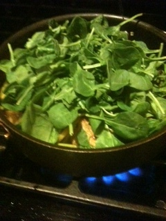 Last step add the spinach