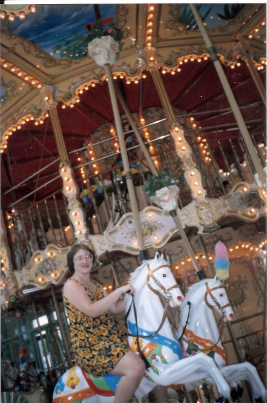Riding high on carousel horses