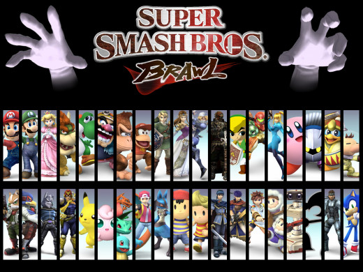 Brawl character roster and bosses Master Hand and Crazy Hand