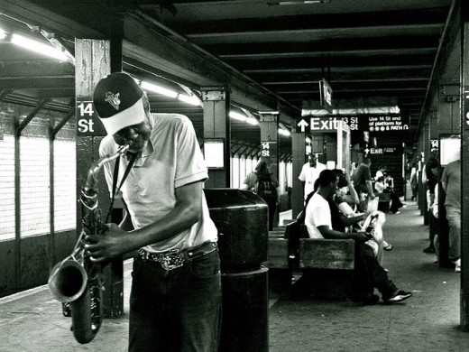 Subway Musician by Kevin Hall