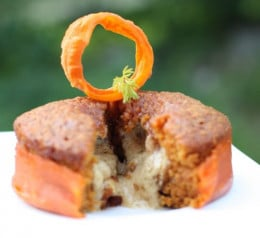This is a delicious inside out carrot cake.