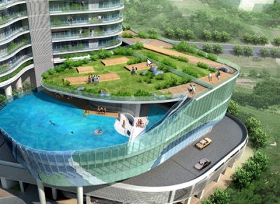 Balcony Swimming Pool - Proposed Aquaria Grande Tower Mumbai
