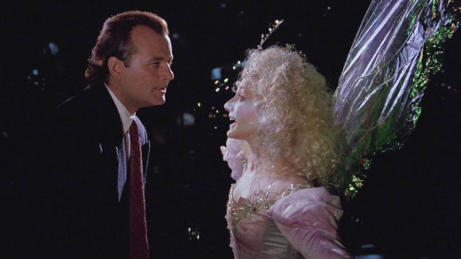 Bill Murray and Carol Kane in Scrooged (1988)