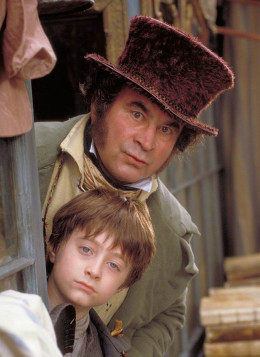 Bob Hoskins and Daniel Radcliffe in David Copperfield (1999)