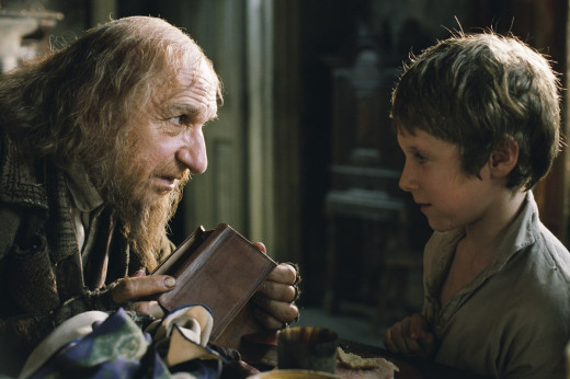 Ben Kingsley and Barney Clark in Oliver Twist (2005)