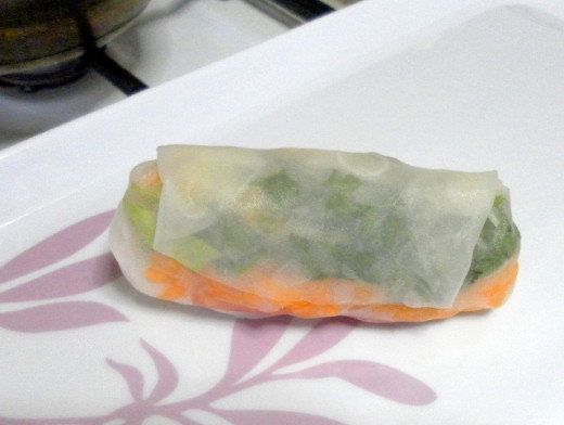A spring roll