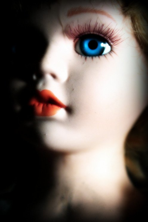 Beautiful and eerie porcelain doll heads
