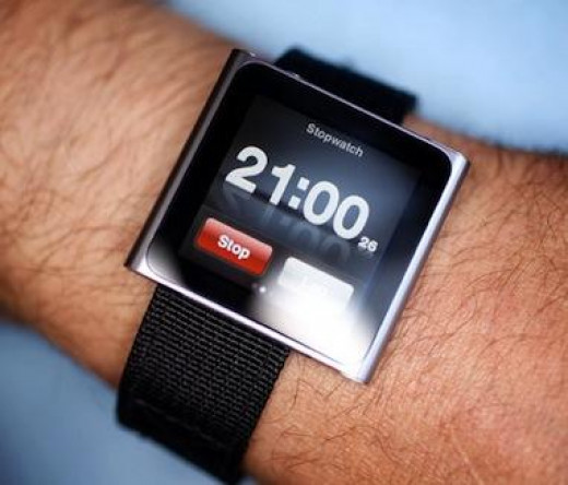 This is an iPod watch strap, a very cool iPod watch option.