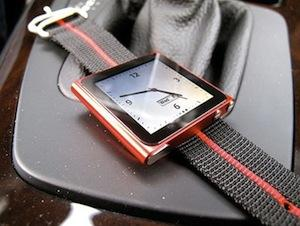 The Maratec Nylon iPod watch strap is a nice option for an iPod watch, and it's cheap too.