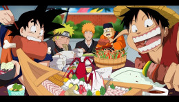 Naruto bleach one piece goku
