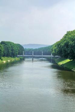 Ourthe river and Belle-Ile bridge, Liège