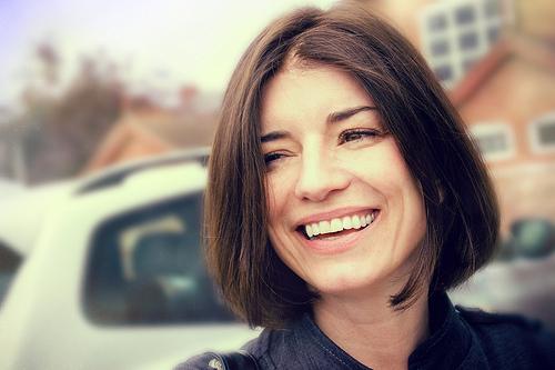 Smiling brunette.