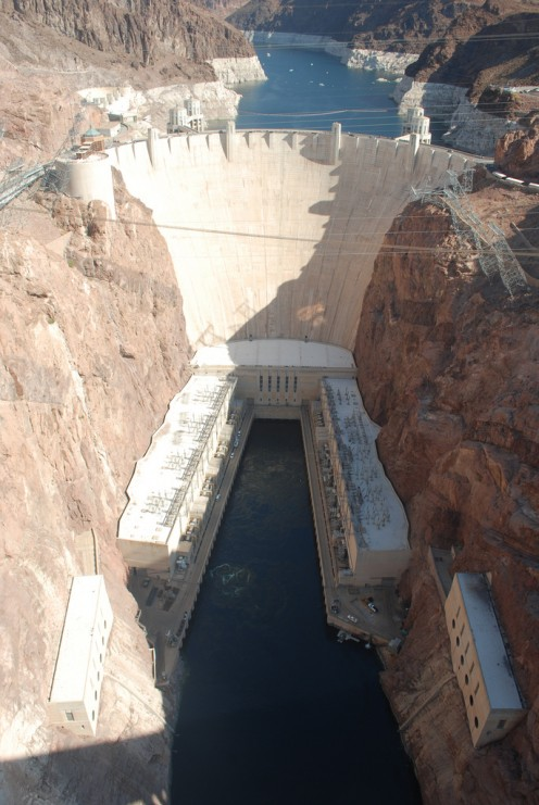 The Hoover Dam was one of the highlights of one of my recent road trips.  Warning: Pet dogs are not allowed on it. There are nearby boarders but you will need your dogs veterinary records and to call ahead to schedule it.