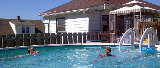 grands kids our pool staying in motion