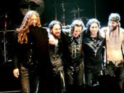 Ozzy and backup band