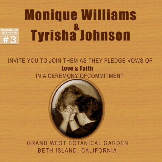 "invitation Example #3 : Two brides Same-sex Wedding invitation ""casual """
