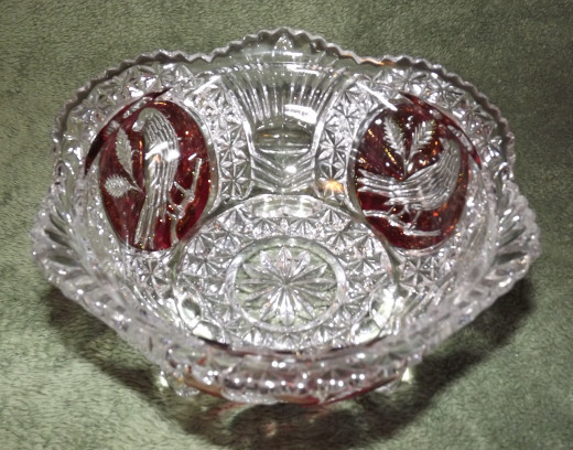 Vintage Collectible Hofbauer Lead Crystal Bowl