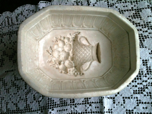 A Victorian Ironstone Mold with an Intricate Floral Design
