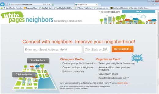 Neighbors Homepage