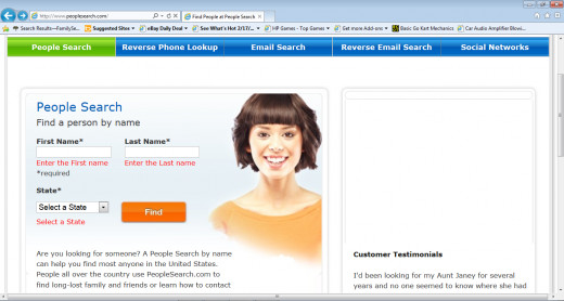 Peoplesearch Homepage