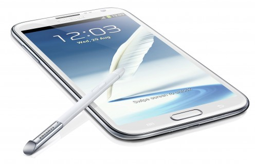 The stunning Galaxy Note 2.