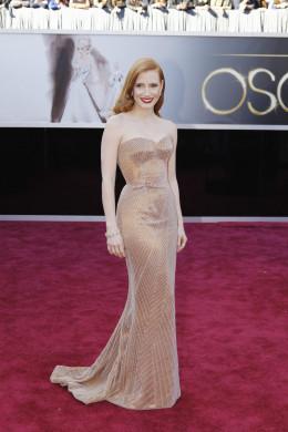 Jessica Chastain wears Armani Prive