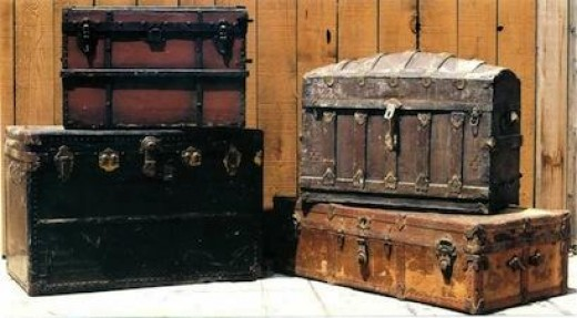 The antique steamer trunk comes in all shapes and sizes, but most are extremely cool, vintage looking and useful!