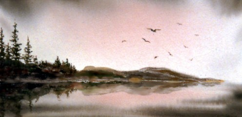 Dover Point - Watercolor