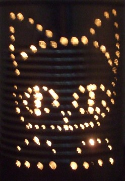 How To Make Kitten Luminary on Cans DIY