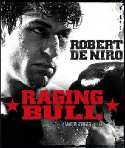 Raging Bull is about the turbulent life of boxer Jake La Motta. La Motta is played by Robert De Niro and La Motta's brother is played by Joe Pesci.