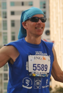 Steve Joseph crosses the finish line of the Miami Marathon in 2013, and looks back at 25 healthy years of life.