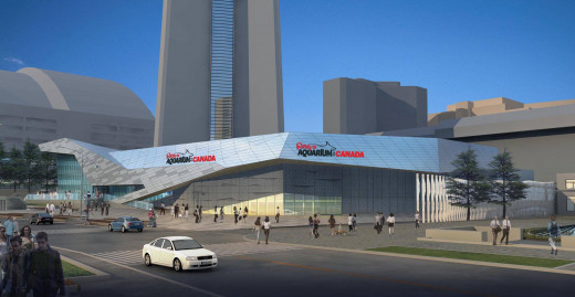 An artist's depiction of the Ripley's Aquarium of Canada building, scheduled to open in Toronto in October of 2013.
