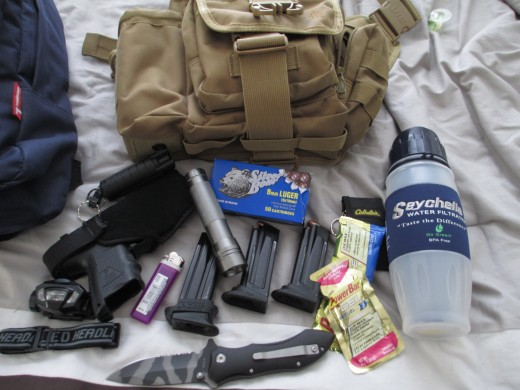 Some essential bug out bag gear items