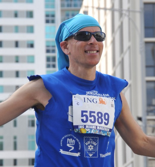 Steve Joseph enjoyed his run at the Miami Marathon this year.