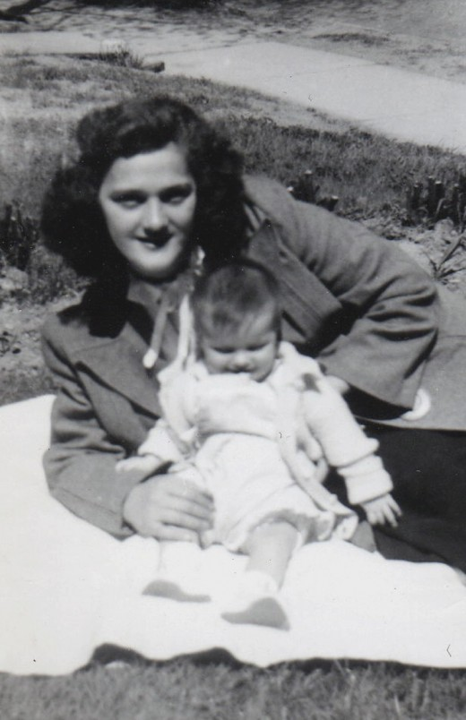 My Mother and Me - Circa 1948